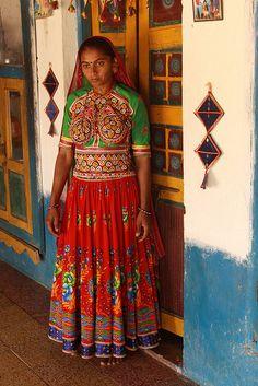 Ahir woman in May village, Gujarat, India