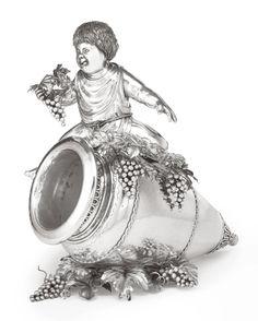 An Italian Silver Figural Wine Cooler,