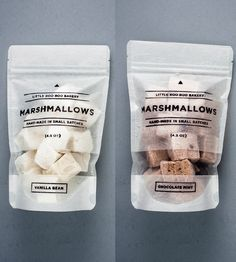 Vanilla Bean and Chocolate Mint Gourmet Marshmallows by Little Boo Boo Bakery on Scoutmob Shoppe