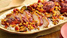 Southwest Chicken with Honey Roasted Corn Salsa