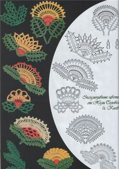 Motivos Irlandeses Crochê. / Irish Crochet Motifs.