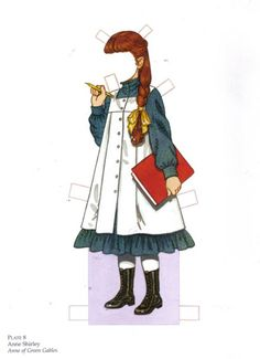 Anne of Green Gables and other favorite literary characters paper dolls- print for free!