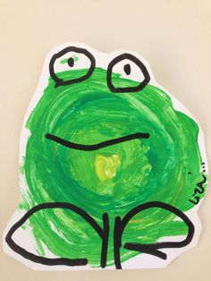Projects For Kids, Art Projects, Project Ideas, Painting For Kids, Art For Kids, Rock Crafts, Arts And Crafts, Frog Theme, Frog Art