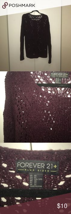 Forever 21 | Burgundy Sweater | 2X Burgundy Forever 21 sweater in amazing condition. Forever 21 Sweaters Crew & Scoop Necks