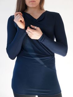 34f8d5c665c Draped tunic top that combines style with comfort. Modern silhouette  constructed of super soft jersey