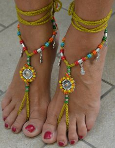 Fashion Jewelry Have An Inquiring Mind Ankle Bracelet Beads Woven Anklet Bare Foot Brown String Rope Hippy Boho Style