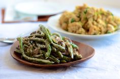 Green bean casserole from scratch. Made with greek yogurt and no condensed soup