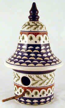 Birdhouse, Polish Pottery, Handmade Polish Pottery, Stoneware