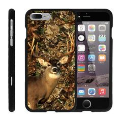 "[Apple iPhone 7 Plus Case (5.5"")][Snap Shell] Hard Plastic Protector with Non Slip Coating by Miniturtle - Deer Hunting Leaves. Designed to fit the Apple iPhone 7 Plus (5.5""). Snug Fit - from top to bottom, this case covers every open spot of the device while leaving all important buttons and sockets accessible. Full Body Protection - elevated front plate allows you to lay your device face down without unnecessarily damaing the screen. Unique Designs - offers a variety of cool, custom..."