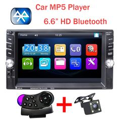 New 2 Din Car Video Player 6.6'' HD Bluetooth Stereo Radio FM MP4 MP5 Audio USB Auto Electronics autoradio steering-wheel 2din
