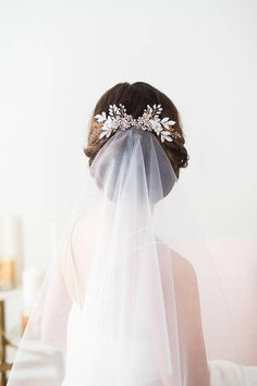 Your place to buy and sell all things handmade Rose Gold Wedding Hair Comb Flower Headpiece Bridal Hair Hair Comb Wedding, Headpiece Wedding, Bridal Headpieces, Wedding Hair And Makeup, Wedding Veils, Wedding Dresses, Wedding Ceremony, Bridal Hair Flowers, Flower Headpiece