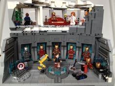 LEGO Iron Man Armoury / Malibu Mansion: A LEGO® creation by Chris Blight : MOCpages.com