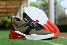 new arrival 0c311 52f93 Nike Air Force 270 Medium Olive Challenge Red Sail Black AH6772 200 Men s  Running Shoes  AH6772-200