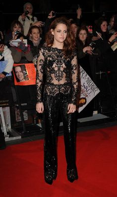Kristen Stewart goes for another daring Zuhair Murad outfit at the Breaking Dawn 2 London premiere