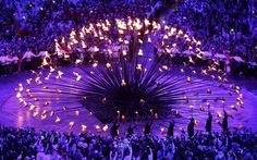 The British designer Thomas Heatherwick was the mastermind behind one of the   best-kept secrets of the Opening Ceremony - the cauldron.