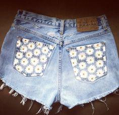 Daisy HighWaisted Denim Shorts by NovaClothing on Etsy