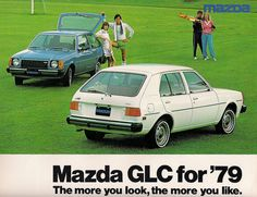 For some mysterious reason , auto marketing people think we North Americans need different names for our cars than the rest of the world. It didn't take Mazda too long to realize 323 was a perfectly good name Mazda Cars, Hyundai Cars, Classic Japanese Cars, Classic Cars, Vintage Japanese, Car Images, Car Photos, Rx7, Import Cars