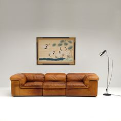 Anonymous; Leather Sectional Sofa by Durlet, 1970s.