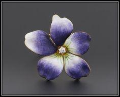Violet enamel ring https://www.etsy.com/listing/230156232/enamel-violet-ring-14k-gold-diamond