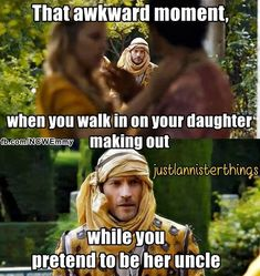 Game Of Thrones funny meme. That awkward moment...