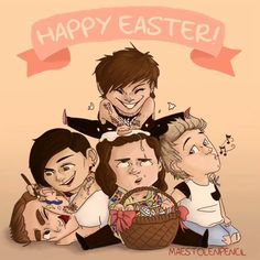 THIS. FANART.❤️ HAPPY EASTER EVERYONE! hope you have a fantastic day with your family and/or friends so we can all just lighten up a little from what we've been through as a fandom (an individually, of course) lately :). So yup, just have a good day eating chocolates and sweets and stuff! ✌️