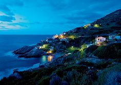 Ikaria, Greece - Dusk view of the north shore in ikaria (photo: Gian Luca Calla) Ikaria Greece, Greece Travel, Greece Trip, Visit Greece, Greek Islands, Trip Planning, Wonders Of The World, Adventure Travel, Places To See