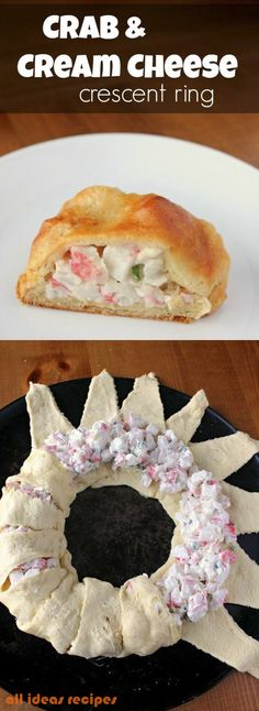 Crab & Cream Cheese Crescent Ring - With crispy, flaky crescent rolls filled a delicious crab and cream cheese mixture, this Crab & Cream Cheese Crescent Ring is simple and…
