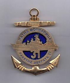 FR YUGOSLAVIA army - NAVAL WARFARE - WAR FRIGATE 31 - Service medal - VERY RARE