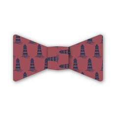 Nantucket Red Lighthouse Bow Tie