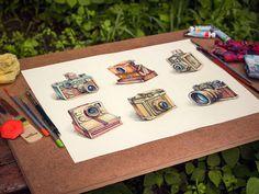 Vintage #Camera #Illustration Design