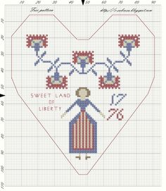 Patriotic Heart - Free pattern
