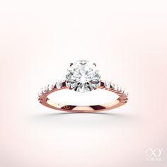 """Stunning """"Luberina"""" diammond ring in rose gold. Perfect for sunny spring days #yorxs #diamantring #rosé"""