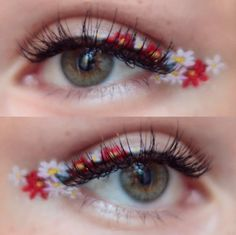 Is floral eyeliner the new flower crown? Get inspired with these GORGEOUS floral eyeliner looks and try it for yourself! Makeup Fx, Artist Makeup, Cute Makeup, Skin Makeup, Makeup Inspo, Makeup Inspiration, Beauty Makeup, Makeup Looks, Eyeliner Makeup