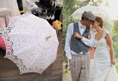 Special Offer Battenburg Lace Vintage Umbrella Parasol by ChoCoB