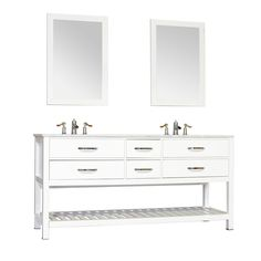 "Manhattan 72"" Double Contemporary Bathroom Vanity with Mirror"