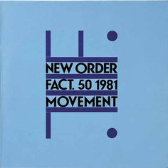 "#NewOrder debut album ""Movement"" (FAC 50).  cover design by Peter Saville. Released in 1981 on #FactoryRecords."