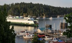 Friday Harbor Ferry - San Juan Island, Washington