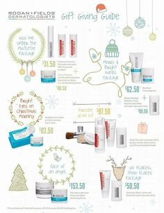 Great gift ideas for anyone in your life that has skin! (which should be everybody!)  Everyone deserves the best skin of their life!  Message me for details!    And if you need a little birdie to let someone special know this is on your list, let me know!