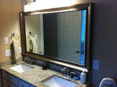 james leonard sent us a picture of his new bathroom mirror