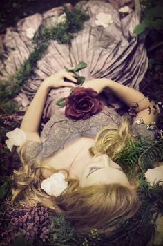 """✿ Lady with Flowers ✿ """"Sleeping Beauty #2"""" by Diana Cornielle"""