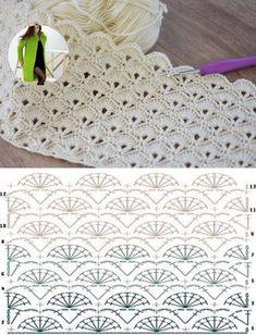 Hexagon Crochet Pattern, Crochet Diagram, Crochet Chart, F Hexagon Crochet Pattern, Baby Afghan Crochet Patterns, Crochet Diagram, Crochet Chart, Filet Crochet, Crochet Motif, Knitting Patterns, Crochet Hood, Leaf Patterns