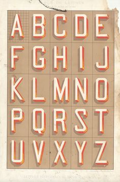 by pilllpat, lettering, design, vintage, old, alphabet, type, graphics, typography, colour