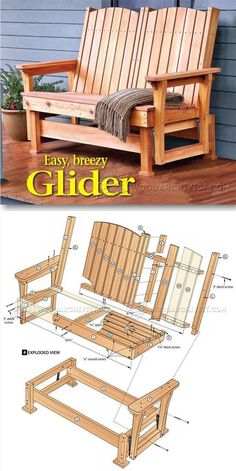 Glider Bench Plans   Outdoor Furniture Plans U0026 Projects   Woodwork,  Woodworking, Woodworking Plans, Woodworking Projects. See More. Oregon  Patio Works ...