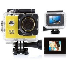 CCbetter ® Sports Action Camera CS710 12mp 1080p 120 Degree Waterproof Diving Video DVR (Yellow)