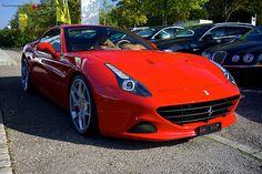 Ferrari California T in Rosso Corsa Red with Novitec Rims