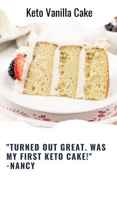 Don't worry about overloading on sugar for a special occasion. This 3 layer low carb Keto Vanilla Cake will satisfy any craving. If you have a loved one who is on a low carb diet or following the Keto diet, this is the birthday cake for them! Round Cake Pans, Round Cakes, Vanilla Buttercream Frosting, Vanilla Cake, Homemade White Cakes, Low Carb Flour, Low Carb Sweeteners, Keto Cake, Best Cake Recipes
