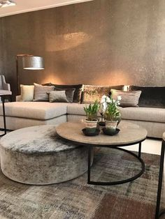 60 cozy small living room decor ideas for your apartment 11 « Home Decoration Coffee Table Design, Coffee Table And Ottoman Combo, Ottoman Table, Footstool Coffee Table, Ottoman Decor, Coffee Table With Seating, Diy Ottoman, Cool Coffee Tables, Decorating Coffee Tables