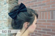 Hey, I found this really awesome Etsy listing at https://www.etsy.com/listing/162610532/black-hair-bow