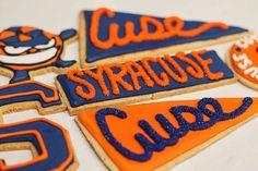 Syracuse Events, Syracuse University, 40th Birthday Party Themes, Orange Cookies, Orange Crush, Cookie Designs, Nom Nom, Graduation, Treats