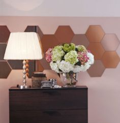We like the honeycomb pattern, but you can rearrange HONEFOSS mirrors to make one you like better!